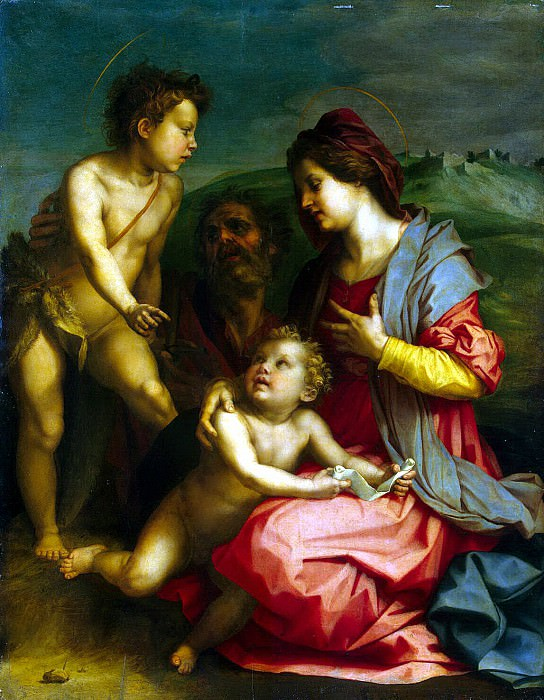 Andrea del Sarto - Holy Family with John the Baptist. Hermitage ~ Part 01