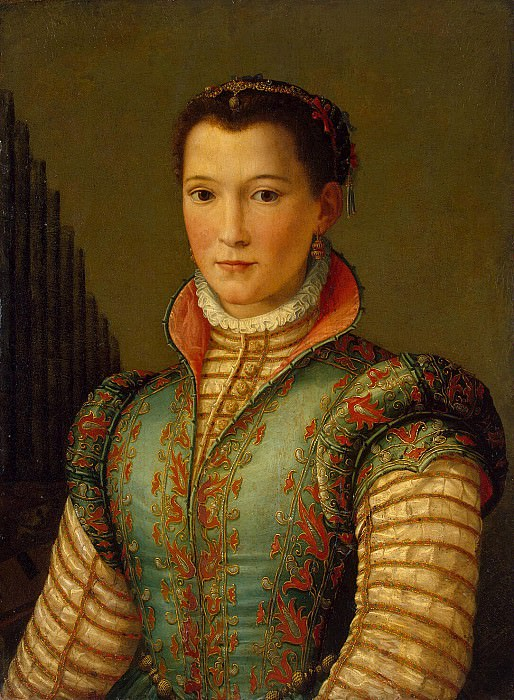 Allori, Alessandro - Portrait of Eleanor of Toledo. Hermitage ~ Part 01