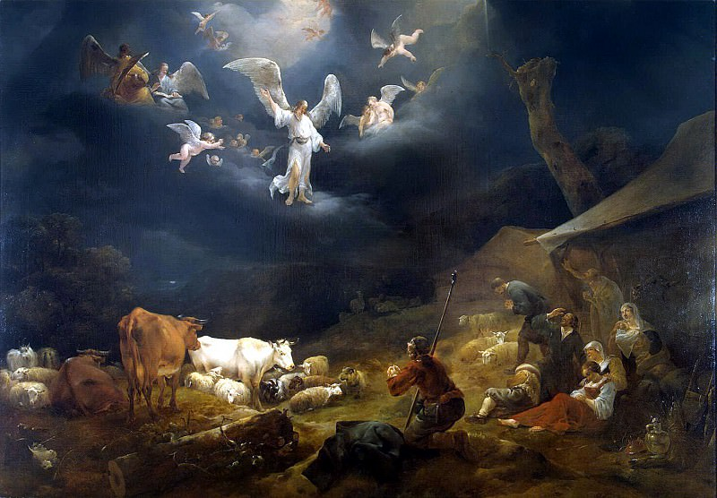 Burham, Nicholas Peters - Annunciation to the shepherds. Hermitage ~ Part 01