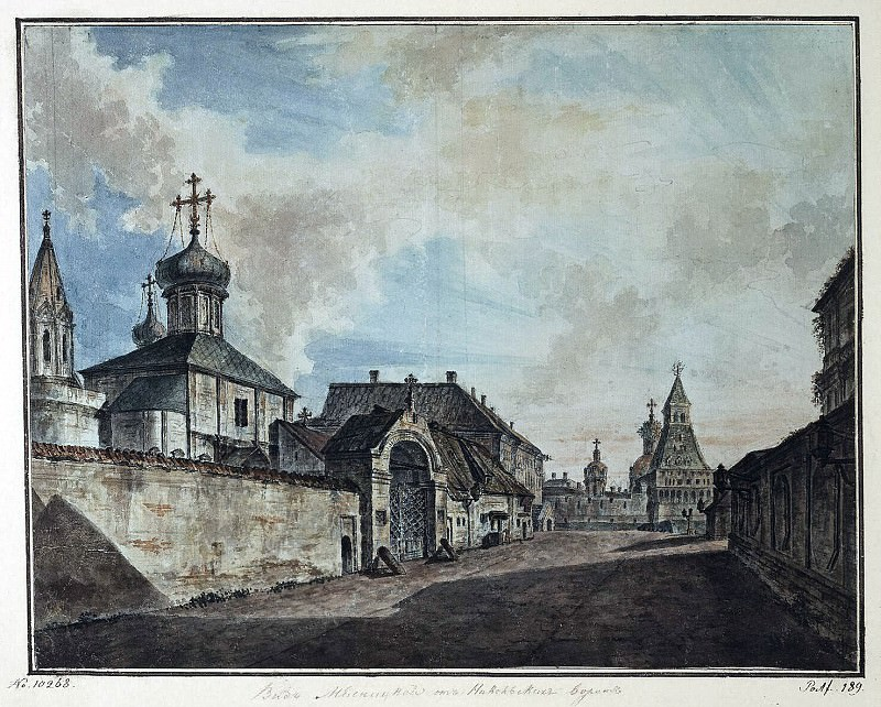 Alekseev, Fedor - View of the Church of Our Lady and Grebnevskoy Vladimirsky Gate Chinatown. Hermitage ~ Part 01