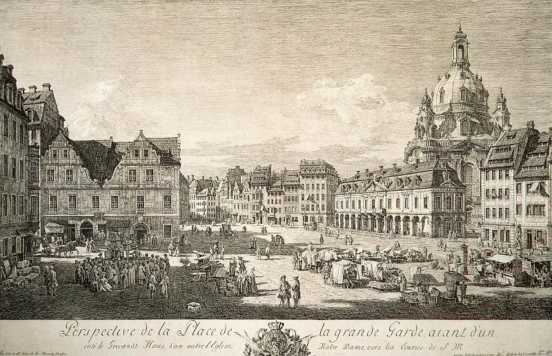 Bellotto, Bernardo - The new market in Dresden. Hermitage ~ Part 01