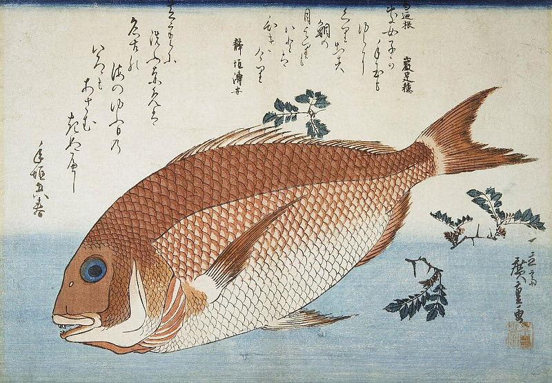 Ando Hiroshige - Sheet Red sea bream. Part 01 Hermitage