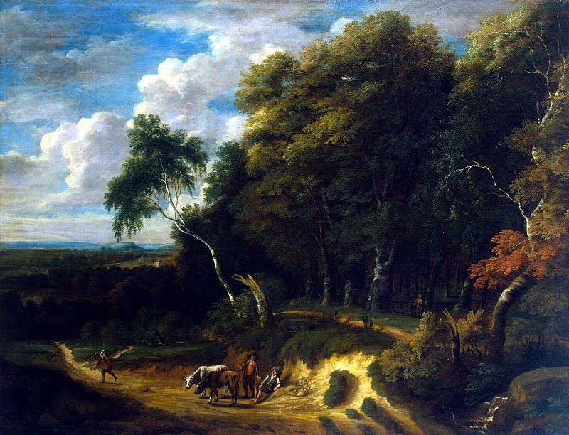 Artois, Jacques Dr - Landscape with cattle drover on the road. Hermitage ~ Part 01