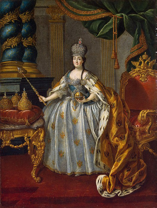 Antropov, Alexei Petrovich - Portrait of Catherine II. Hermitage ~ Part 01