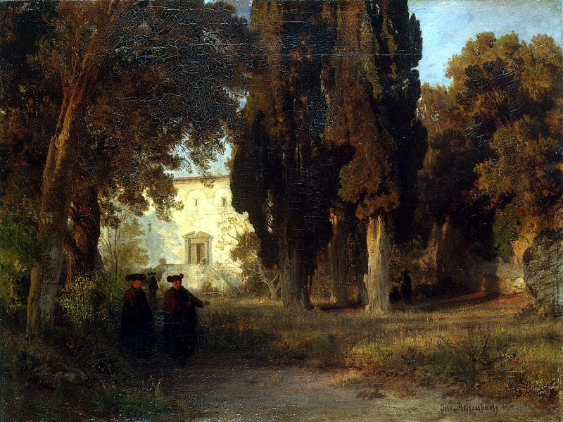Achenbach, Oswald - Monastery garden. Hermitage ~ Part 01