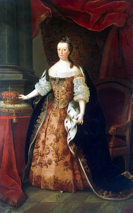 Amaral Miguel Antonio do - Portrait of Marianna Victoria Queen of Portugal. Hermitage ~ Part 01