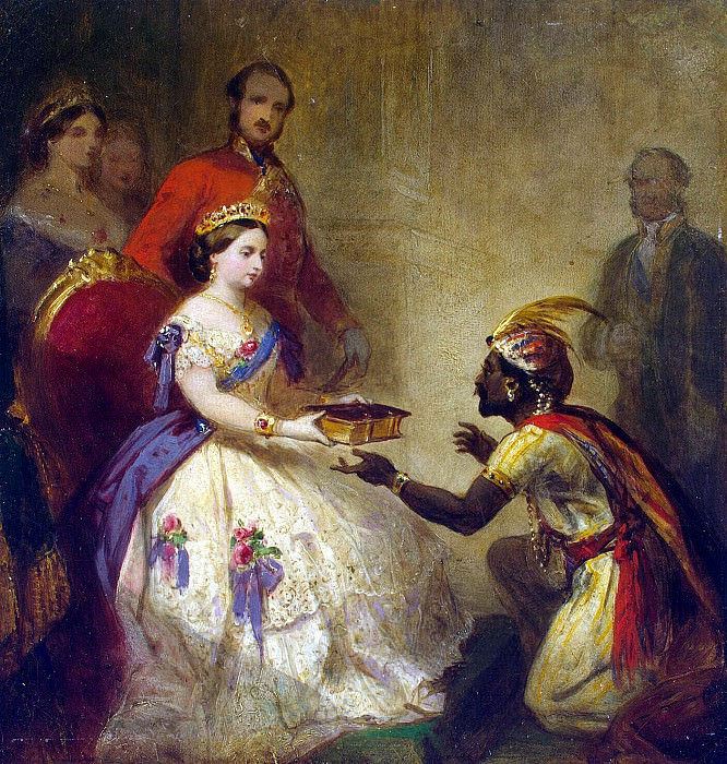 Barker, Thomas Jones - Queen Victoria presenting a Bible African chiefs. Hermitage ~ Part 01