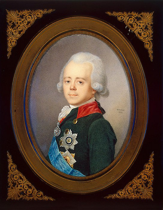 Benner, Jean Henri - Portrait of Emperor Paul I. Hermitage ~ Part 01