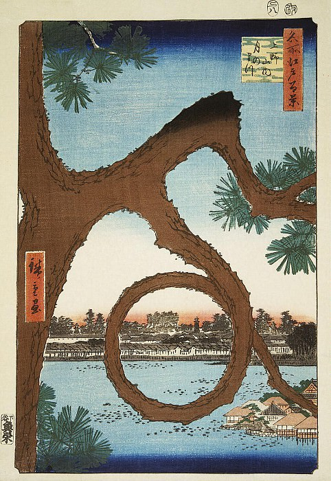 Ando Hiroshige - Sheet pine-moon in Ueno. Hermitage ~ Part 01