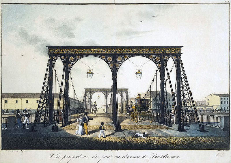Beggrov, Karl Petrovich - View of the Chain Bridge over the Fontanka Panteleimonovsky. Hermitage ~ Part 01