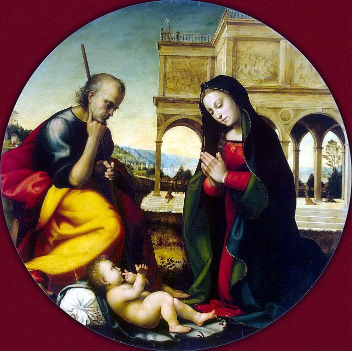 Albertinelli, Mariotto - Adoration of the Christ Child. Hermitage ~ Part 01