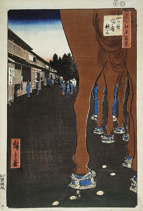 Ando Hiroshige - Sheet Location Naito Shinjuku at Etsuya. Hermitage ~ Part 01