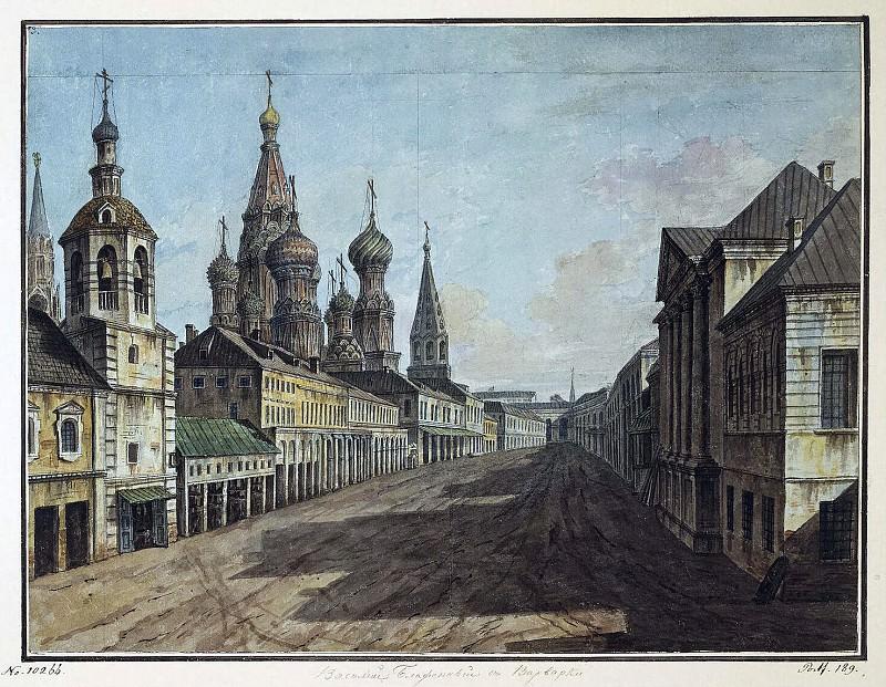 Alekseev, Fedor - View of St. Basils on Moskvoretskaya streets. Hermitage ~ Part 01