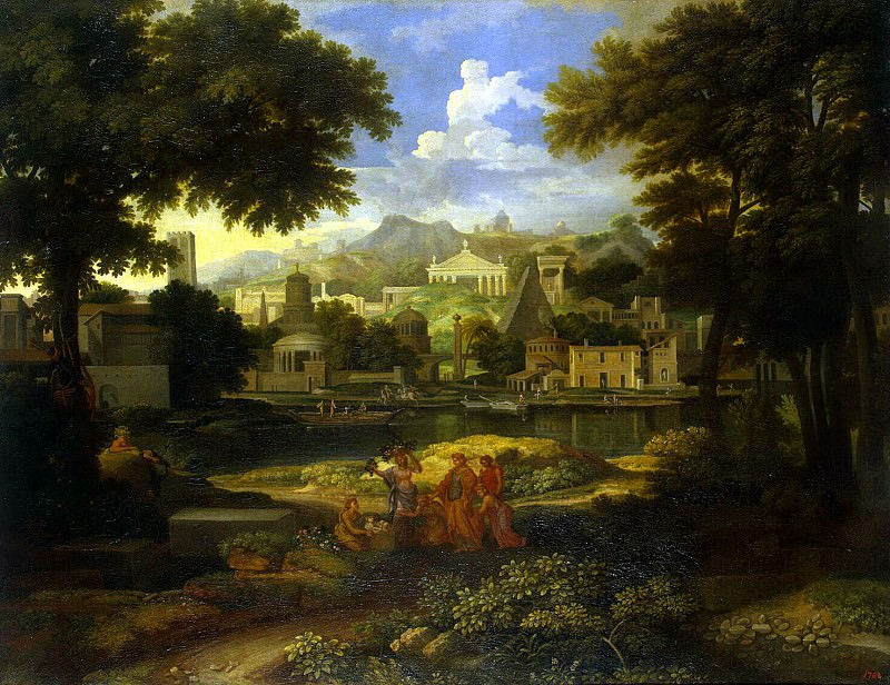 Alegre, Etienne - Landscape with Moses, rescued from the water. Hermitage ~ Part 01