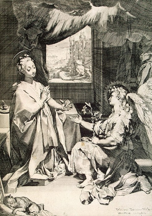 Barocci, Federico - Annunciation. Hermitage ~ Part 01