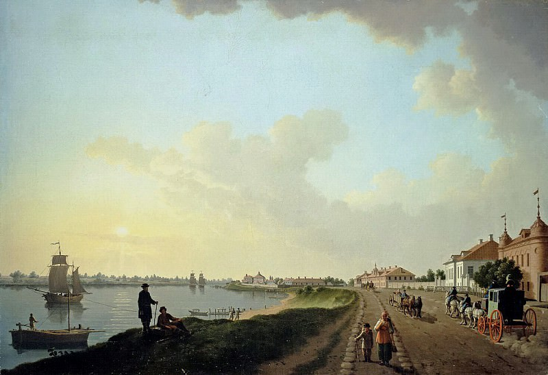 Paterssen, Benjamin - View of outskirts of St. Petersburg at the porcelain factory. Hermitage ~ part 09