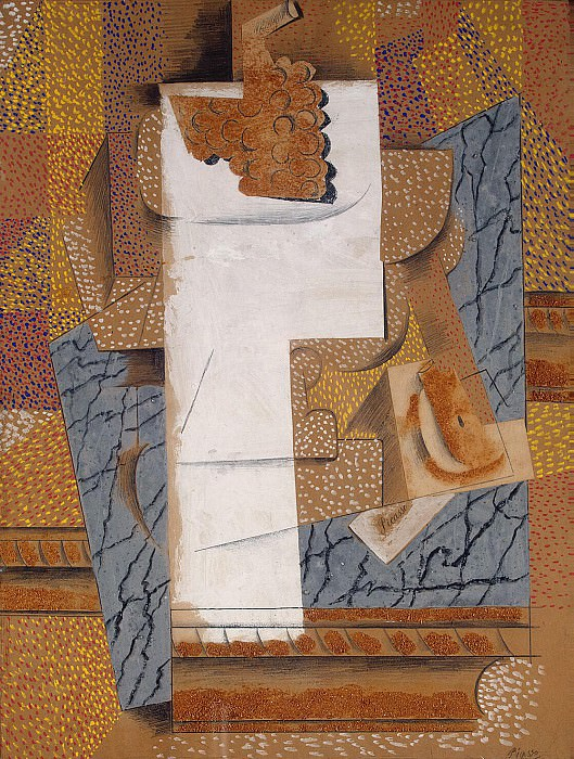 Picasso, Pablo - Composition with grapes and cut pears. Hermitage ~ part 09