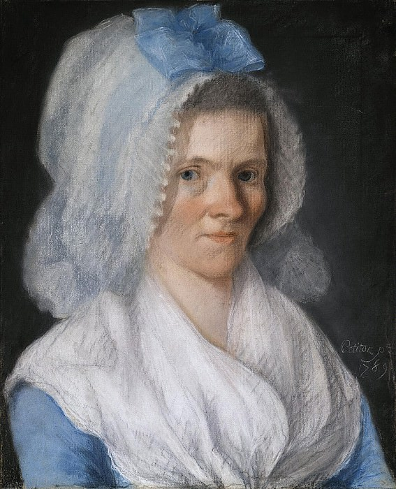 Petitot Joseph - Portrait of an elderly lady in a blue cap. Hermitage ~ part 09