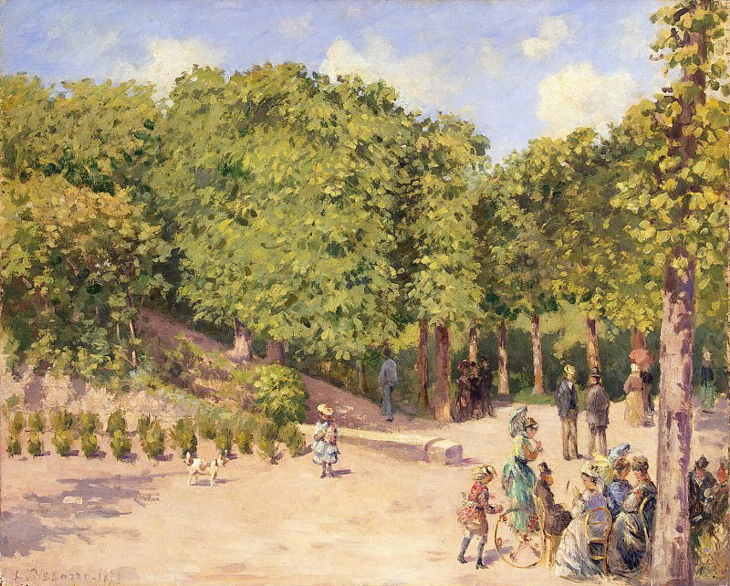 Pissarro, Camille - The Town Park in Pontoise. Hermitage ~ part 09