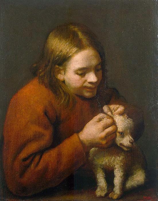 Nunez de Villavicencio, Pedro - The boy with a puppy. Hermitage ~ part 09