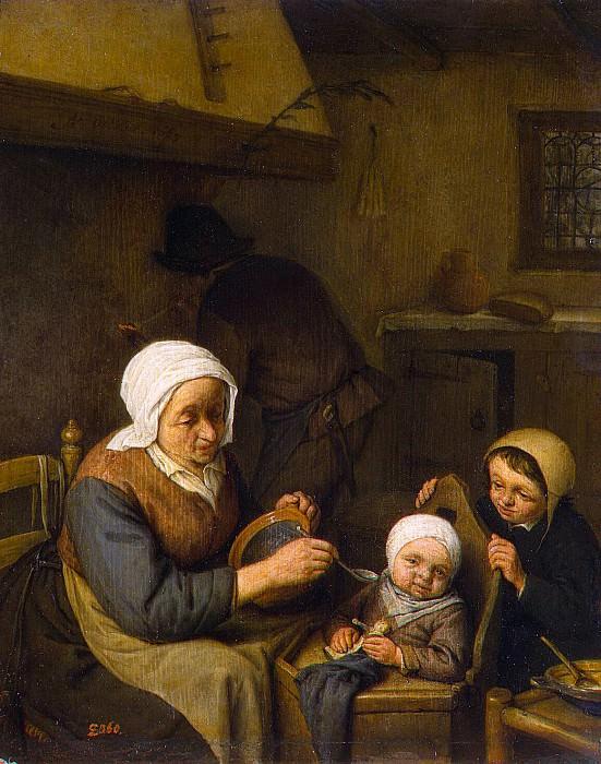 Ostade, Adriaen van - Peasants family. Hermitage ~ part 09
