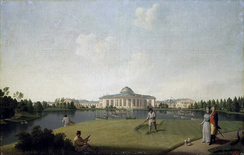 Paterssen, Benjamin - View of the Tauride Palace from the garden. Hermitage ~ part 09