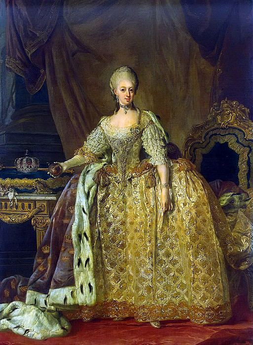 Pash, Lorenz Younger - Portrait of Queen Sophia Magdalena. Hermitage ~ part 09