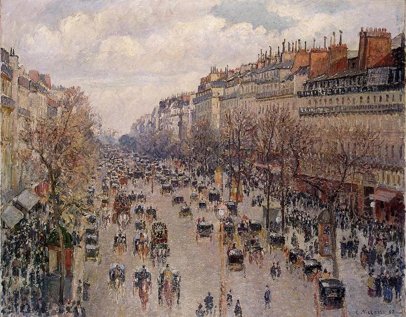 Pissarro, Camille - Boulevard Montmartre in Paris. Hermitage ~ part 09