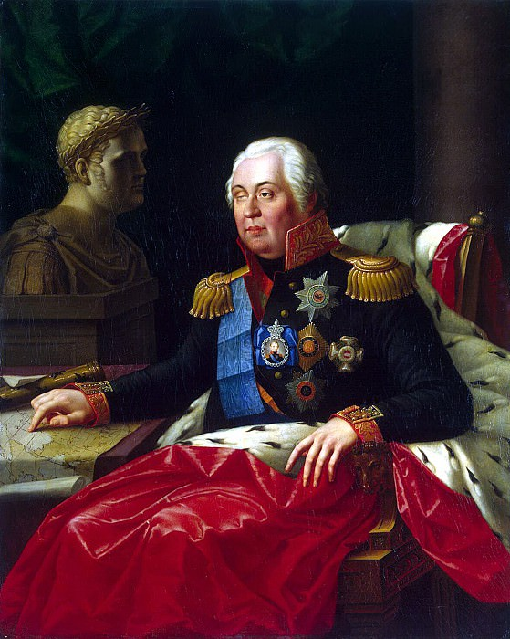 Oleshkevich, Joseph I. - Portrait of Mikhail Kutuzov Illarionovich. Hermitage ~ part 09