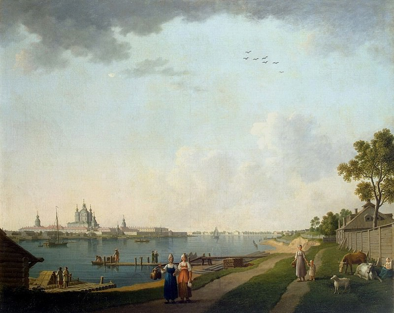 Paterssen, Benjamin - View Smolny Convent from Ohta. Hermitage ~ part 09