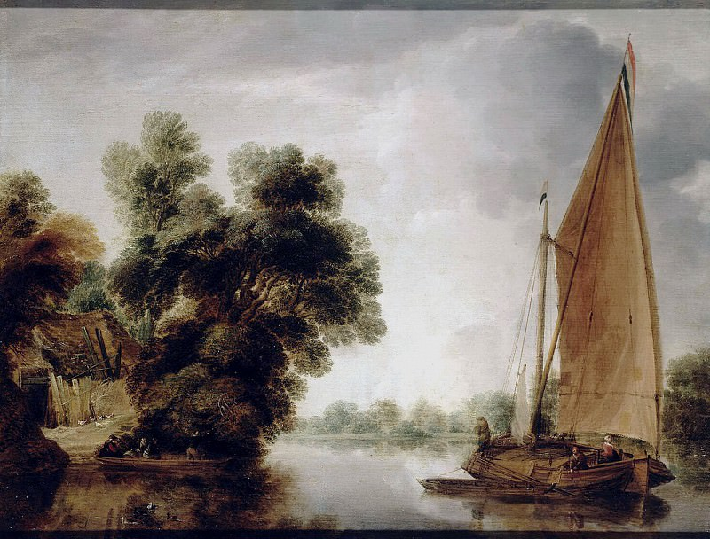 Peters, Gillies - View of the River. Hermitage ~ part 09