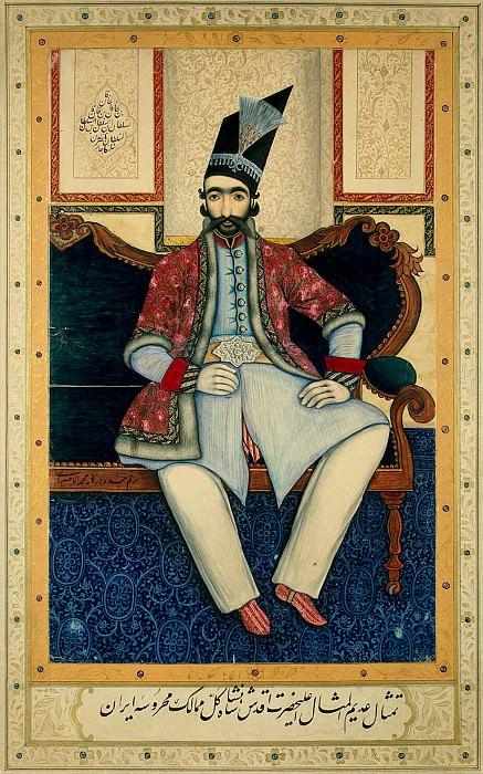 Muhammad Isfaharii - Portrait of Nasir al-Din-Shah. Hermitage ~ part 09