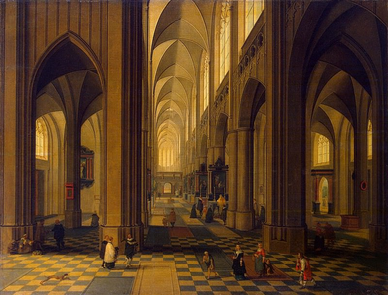 Neffs, Peter Younger - Interior of Antwerp Cathedral. Hermitage ~ part 09