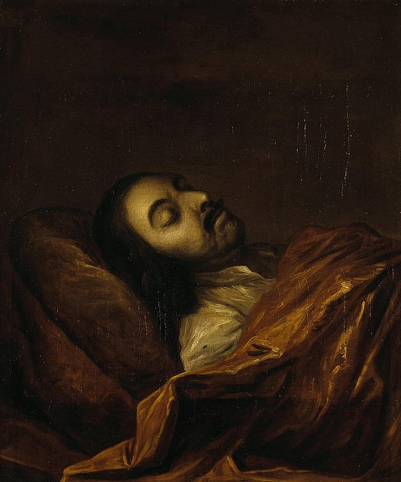 Nikitin, Ivan Nikitich - Portrait of Peter I on her deathbed. Hermitage ~ part 09