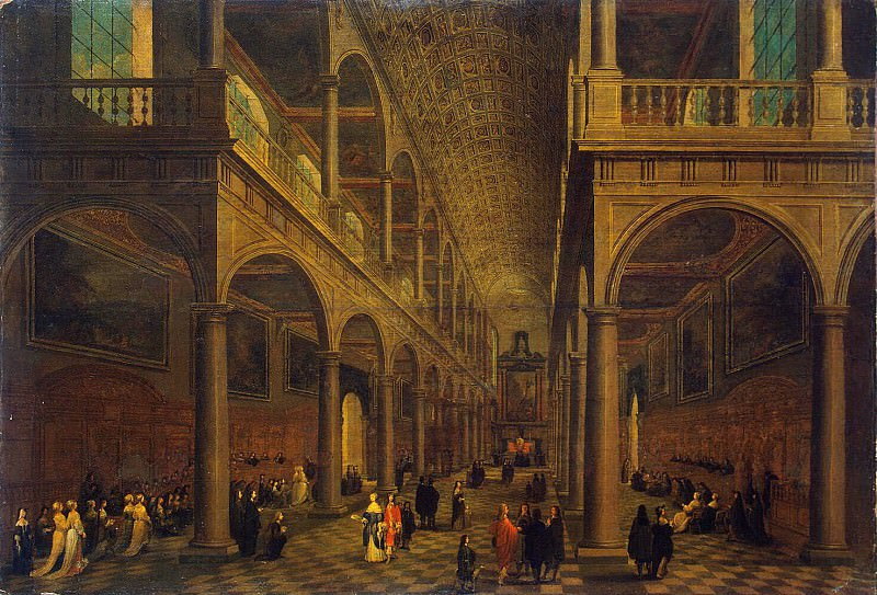 Neffs, Pieter the Younger Francken Frans III - Interior of the church of St. Charles Borromeo in Antwerp. Hermitage ~ part 09