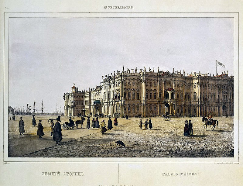 Perrot Ferdinand-Victor - View of the Winter Palace from the Admiralty. Hermitage ~ part 09