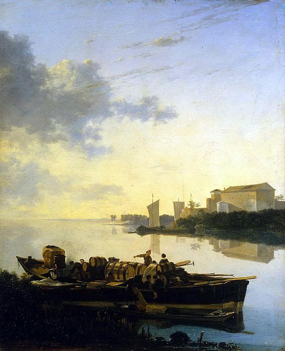Пейнакер, Адам - Барка на реке при закате солнца. Эрмитаж ~ часть 9