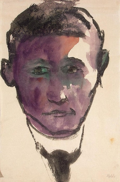 Nolde, Emil - Portrait of a Man. Hermitage ~ part 09