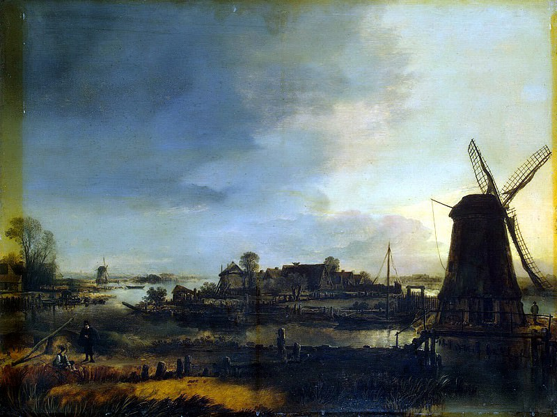 Ner, Art van der - Landscape with a Mill. Hermitage ~ part 09