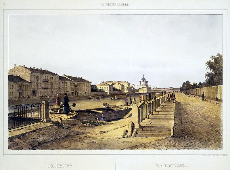 Perrot Ferdinand-Victor - Embankment of the Fontanka River. Hermitage ~ part 09