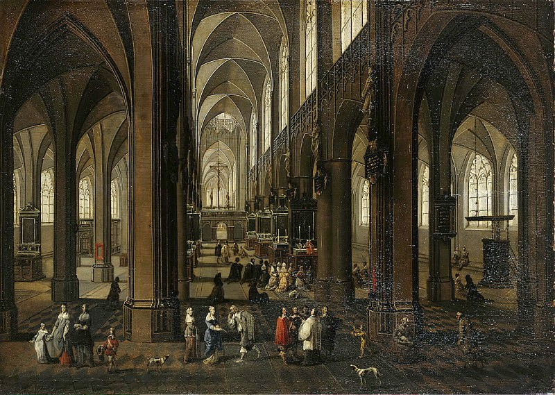 Neffs, Peter Younger Francken Frans III - Interior of Antwerp Cathedral. Hermitage ~ part 09