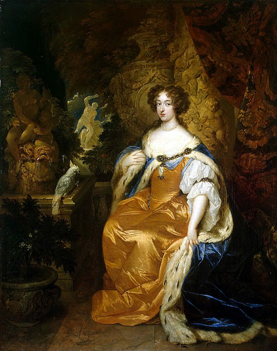 Netsher, Caspar - Portrait of Mary II Stuart. Hermitage ~ part 09