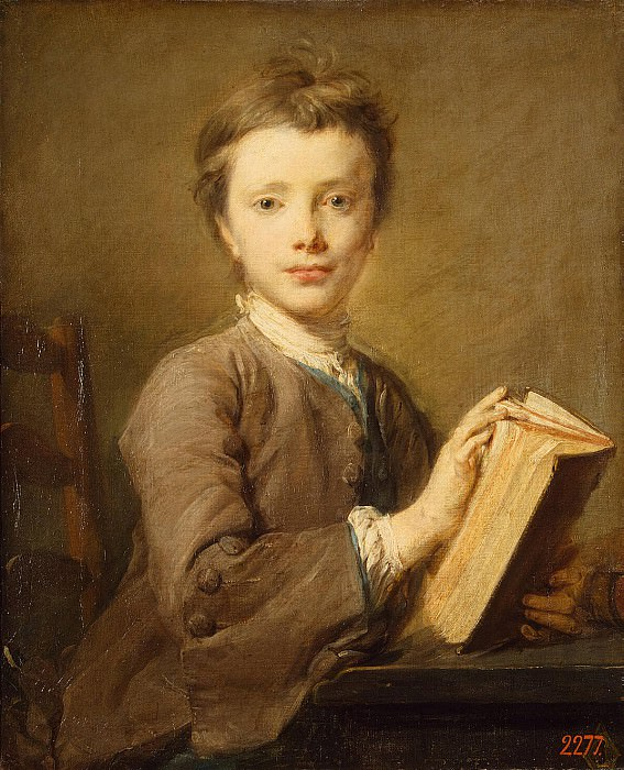 Perron, Jean-Baptiste - Portrait of a boy with a book. Hermitage ~ part 09