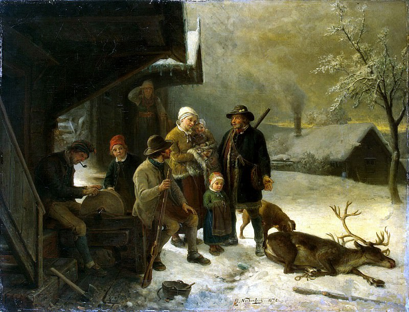 Nordenberg, Bengt - killed deer. Hermitage ~ part 09