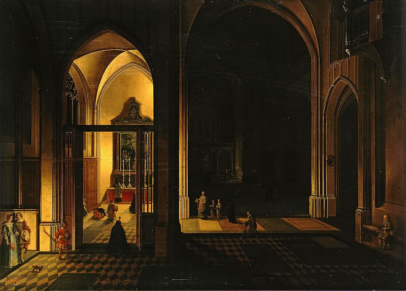 Neffs, Peter Senior - Interior of a Gothic church. Hermitage ~ part 09