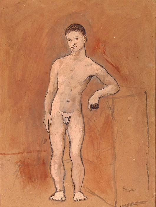 Picasso, Pablo - Nude figure of a young man. Hermitage ~ part 09
