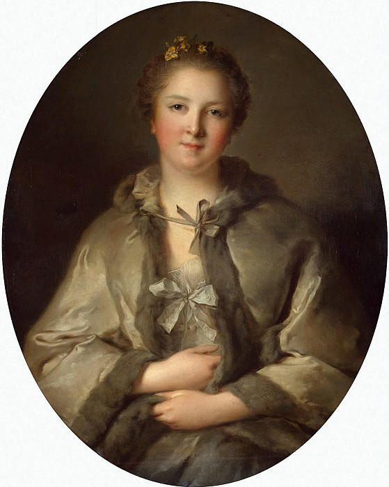 Nattier, Jean-Marc - Portrait of a Lady in Grey. part 09 Hermitage