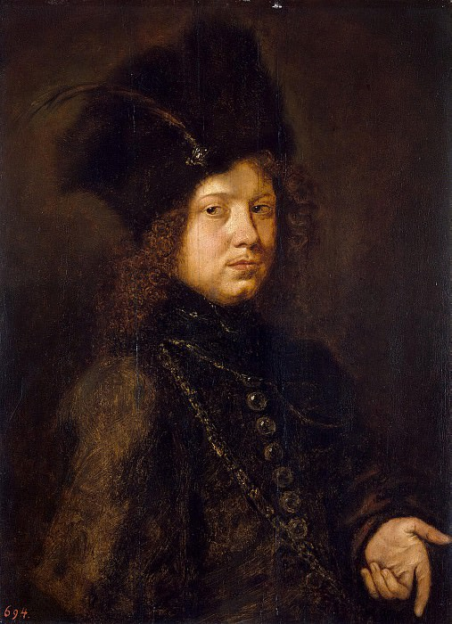 Paudiss, Christopher - Portrait of a young man in a fur hat. Hermitage ~ part 09