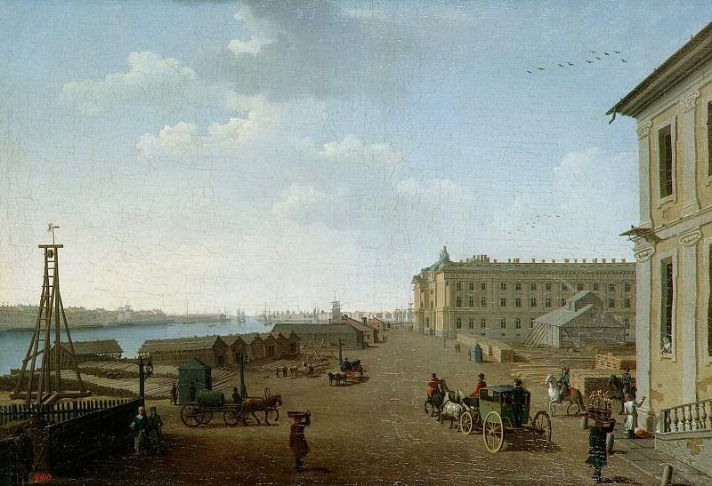 Paterssen, Benjamin - View of the embankment Vasilevsky Island near the Academy of Fine Arts in St. Petersburg. Hermitage ~ part 09