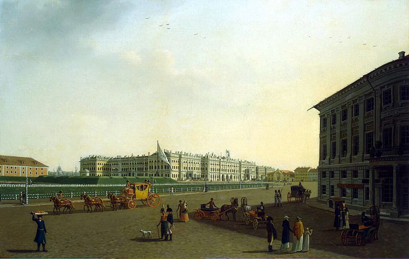 Paterssen, Benjamin - View of the Palace Square and Winter Palace from the beginning of Nevsky Prospekt. Hermitage ~ part 09